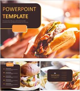 맛있는 햄버거 - 무료 파워포인트 샘플_00