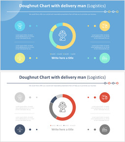 Doughnut Chart with delivery man (Logistics)_4 slides