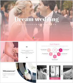 Dream wedding Google Slides Template Design_00
