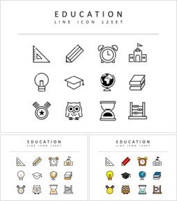 교육 플랫디자인 아이콘_3 slides