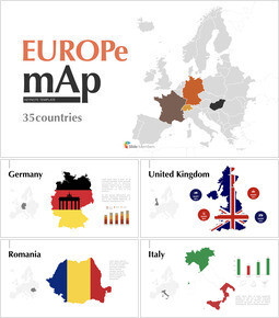 Europe Map (35countries) Keynote mac_00
