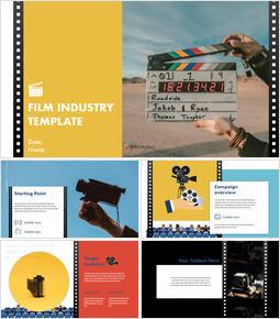 Industria cinematografica Modello di presentazione del keynote_00
