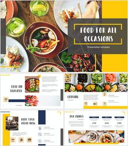 다양한 요리 (요식업) 파워포인트 템플릿 멀티디자인_00