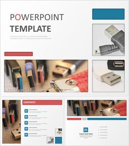 무료 디자인 템플릿 - USB 허브_00