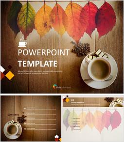 무료 PowerPoint 템플릿 - 커피와 낙엽_00