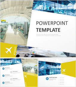 무료 PowerPoint 템플릿 디자인 - 공항_00