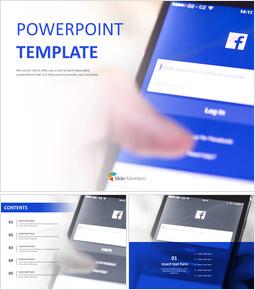 무료 PowerPoint 템플릿 디자인 - 페이스 북_00
