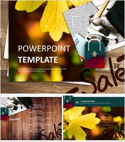 무료 PowerPoint 템플릿 디자인 - 가을 세일_00