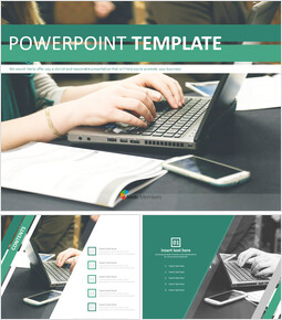 Free Powerpoint Templates Design - Working people_6 slides