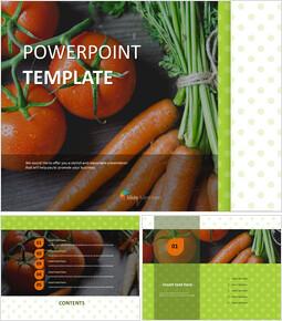 무료 PPT 샘플 - 토마토와 당근_00