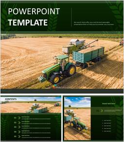 Free PPT Template - Farming Machines_6 slides