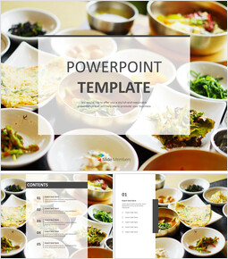 Free Presentation Templates - Korean Table Dhote_6 slides