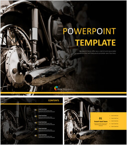 Free Presentation Templates - Motor Engines_00
