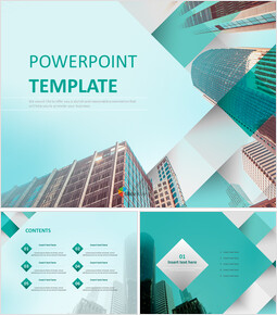Free Template Design - Glass Building_00