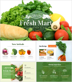 신선한 마트, 유기농, 신선한 음식, 농장 상점 테마 Google 슬라이드_00