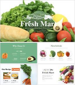 Fresh Mart, Organic, Fresh Food, Farm Store Keynote Design_00
