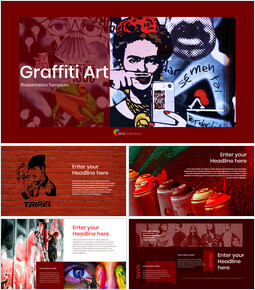 Graffiti Art Theme PPT Templates_00