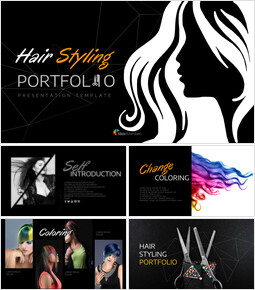 Hair Styling Portfolio Google Slides Templates_25 slides