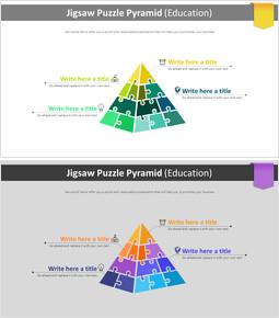 직소 퍼즐 피라미드 다이어그램 (교육)_2 slides