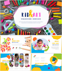 Kid & Art PowerPoint Templates for Presentation_00