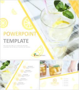 레몬 에이드 - 무료 PowerPoint 템플릿 디자인_00