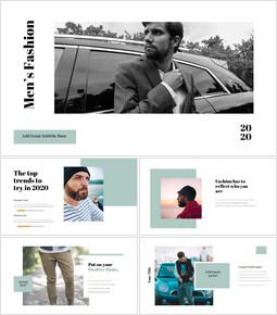 남자의 스타일과 패션 Google 슬라이드 프레젠테이션 템플릿_00