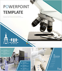 Microscope and Science - Free Powerpoint Templates Design_00