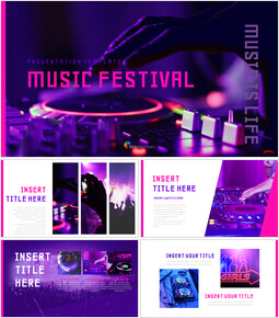 Music Festival Google Slides Presentation Templates_00