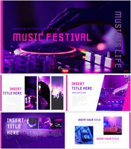 음악 축제 Google 슬라이드 프레젠테이션 템플릿_00
