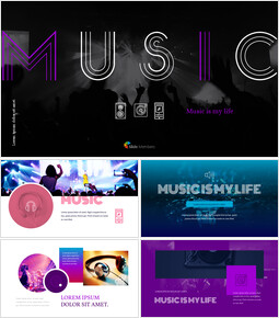 Music Simple Google Slides Templates_00