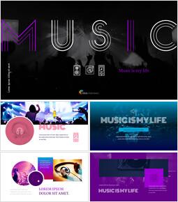 음악 심플한 Google 슬라이드 템플릿_00