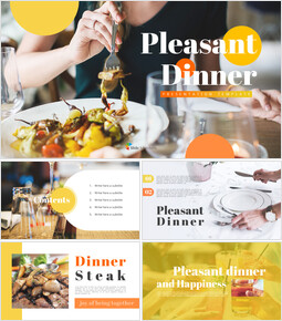 Pleasant Dinner Easy PPT Template_00