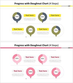 프로세스와 도넛 차트 다이어그램 (4 단계)_00
