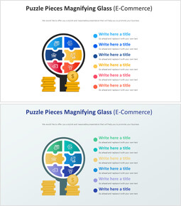 Puzzle Pieces Magnifying Glass Diagram (E-Commerce)_2 slides