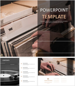Record and Turn Table - Free Template Design_6 slides
