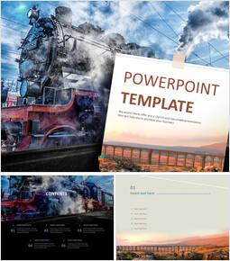 Steam Locomotive - Free PPT Template_00