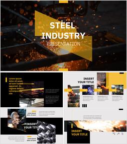 철강 산업 프레젠테이션용 Google 슬라이드 테마_00