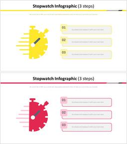 스톱워치 인포 그래픽 다이어그램 (3 단계)_2 slides