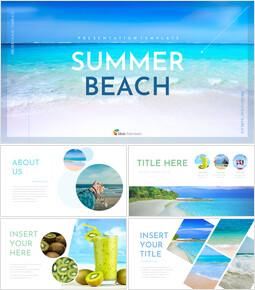 여름 해변 Google 슬라이드 프레젠테이션 템플릿_00