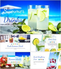 여름 음료 Google 프레젠테이션 슬라이드_00
