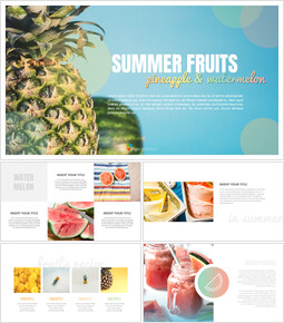 Summer pineapple & watermelon Google Slides_00