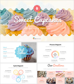 Sweet Cupcakes Google Slides Template Design_00