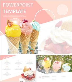 달콤한 아이스크림 - 무료 템플릿 디자인_00