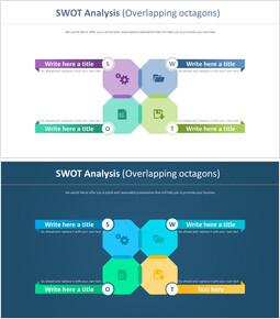 SWOT 분석 다이어그램 (겹치는 옥타곤)_00