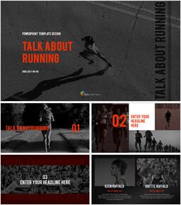 달리기, 육상, 마라톤 PowerPoint 템플릿 디자인_00