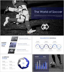 The World of Soccer Keynote Templates_40 slides