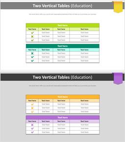2 개의 수직 테이블 다이어그램 (교육)_2 slides