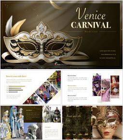 Venice Carnival Keynote Presentation Template_50 slides