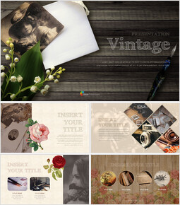 Vintage Theme Presentation Templates_00