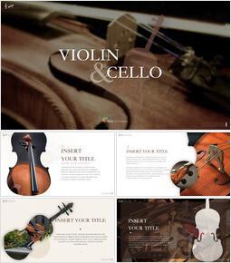 바이올린과 첼로 키노트 프레젠테이션 템플릿_00